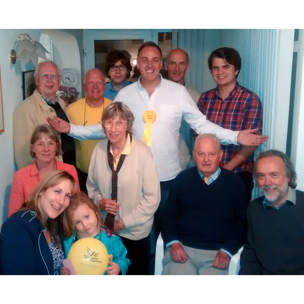 Adrian England (centre) with by-election team